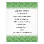 Green Geometric Abstract Pattern. Personalized Invitations