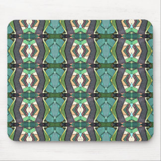 Green Geometric Abstract Pattern Mousepad