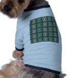 Green Geometric Abstract Pattern Pet T Shirt