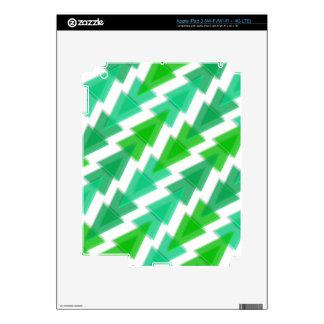 Green Geometric - Arrow Triangle Pattern Decal For iPad 3