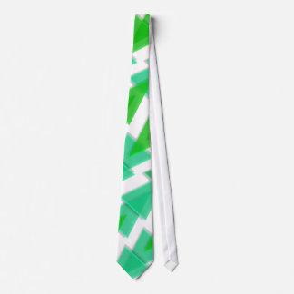 Green Geometric - Arrow Triangle Pattern Neck Tie