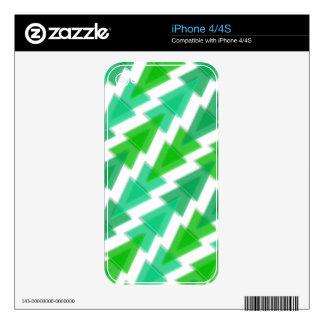Green Geometric - Arrow Triangle Pattern Skin For The iPhone 4