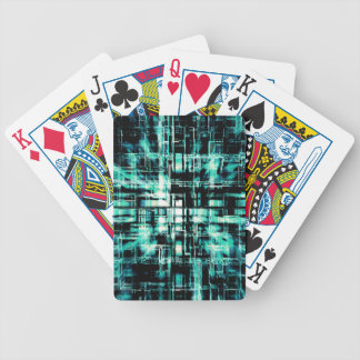 Green Geometric Cubes In Motion Bicycle Playing Cards