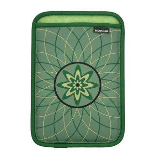 Green Geometric Flower Sleeve For iPad Mini