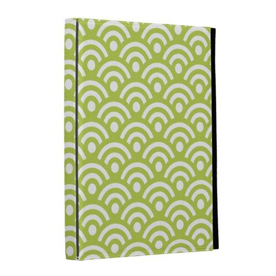 Green Geometric iPad Case
