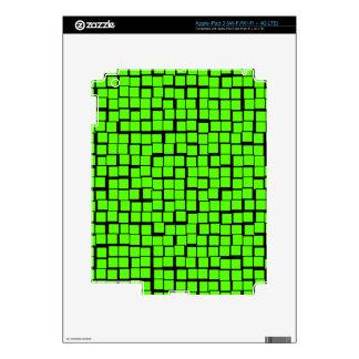Green geometric pattern decals for iPad 3