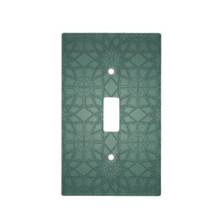Green Geometric Pattern Light Switch Cover