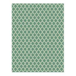 Green Geometric Pattern Postcard