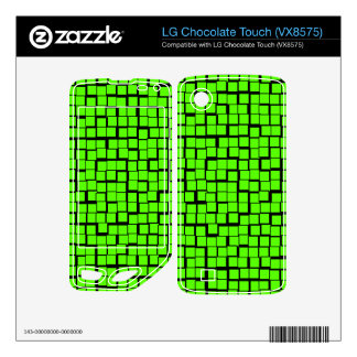 Green geometric pattern LG chocolate touch decals