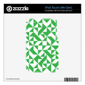 Green Geometric Pattern iPod Touch 4G Skins