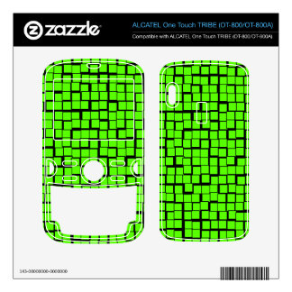 Green geometric pattern ALCATEL tribe skins