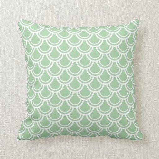 Green Geometric Throw Pillow : Green Geometric Pattern Throw Pillow Zazzle