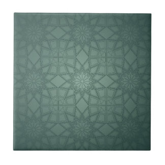 Green Geometric Pattern Tile