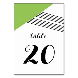 Green Geometric Stripe Table Card