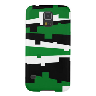 Green Geometric Striped Case For Galaxy S5