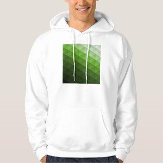 Green Geometric Trangle Pattern Hoody