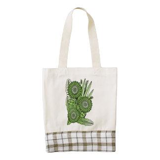 Green Gerbera Daisy Flower Bouquet Zazzle HEART Tote Bag