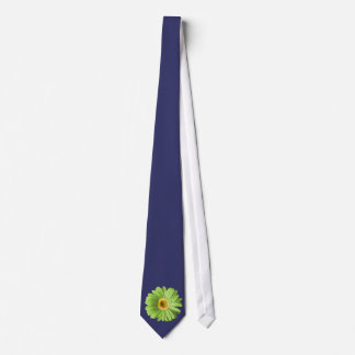 Green Gerbera Daisy Flower Neck Tie