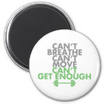 """Green """"Get Enough"""" 2 Inch Round Magnet"""