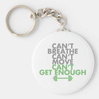 """Green """"Get Enough"""" Basic Round Button Keychain"""