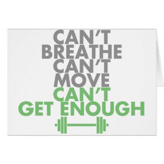 "Green ""Get Enough"" Card"