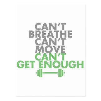 """Green """"Get Enough"""" Postcard"""