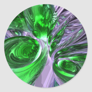 Green Ghost Abstract Sticker