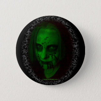 Green Ghoul Round Button