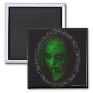 Green Ghoul Square Magnet