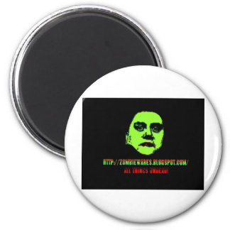 Green Ghoul -ZOMBIEWARES.Blogspot.Com Magnets