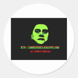Green Ghoul -ZOMBIEWARES.Blogspot.Com Classic Round Sticker