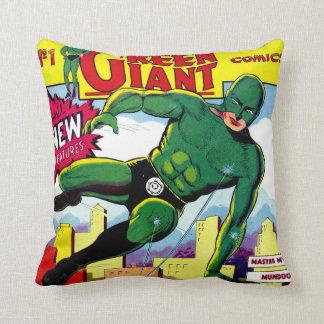 Green Giant vintage comics Throw Pillow