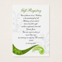 green Gift registry  Cards