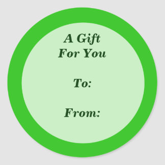 green gift tag sticker