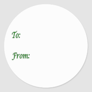 Green Gift Tag Round Stickers