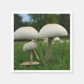 Green Gill Mushroom Paper Napkin