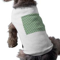 Green Gingham Check - Diagonal Pattern Shirt