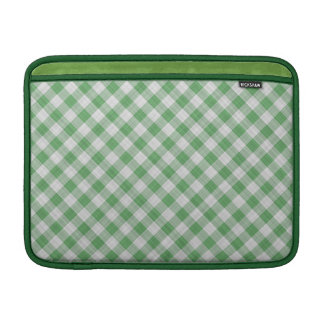 Green Gingham Check - Diagonal Pattern Sleeve For MacBook Air