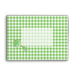 Green Gingham Envelope