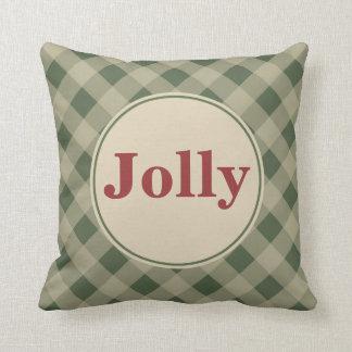 Green Gingham Jolly Pillow