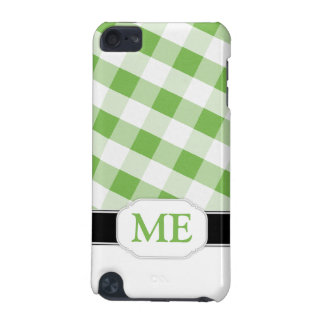 Green Gingham Monogram iPod Touch 5G Case