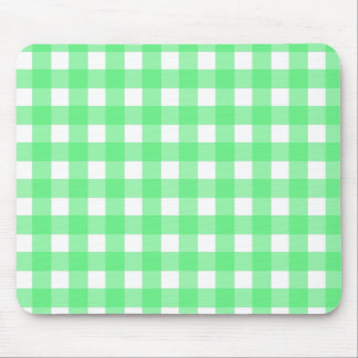 Green gingham mouse pad