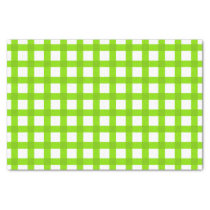 Green Gingham Pattern Tissue Paper