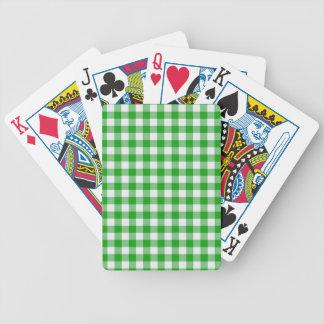 Green Gingham Card Decks
