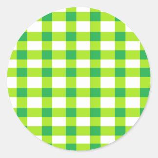 Green Gingham Sticker