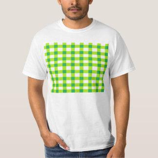 Green Gingham T-Shirt