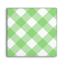 Green Gingham Tablecloth Pattern Envelope