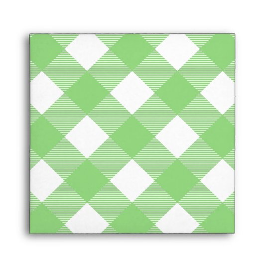 Green Gingham Tablecloth Pattern Envelope
