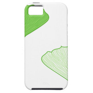 Green gingko vintage edition / on white iPhone SE/5/5s case