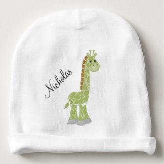 Green Giraffe Baby Beanie